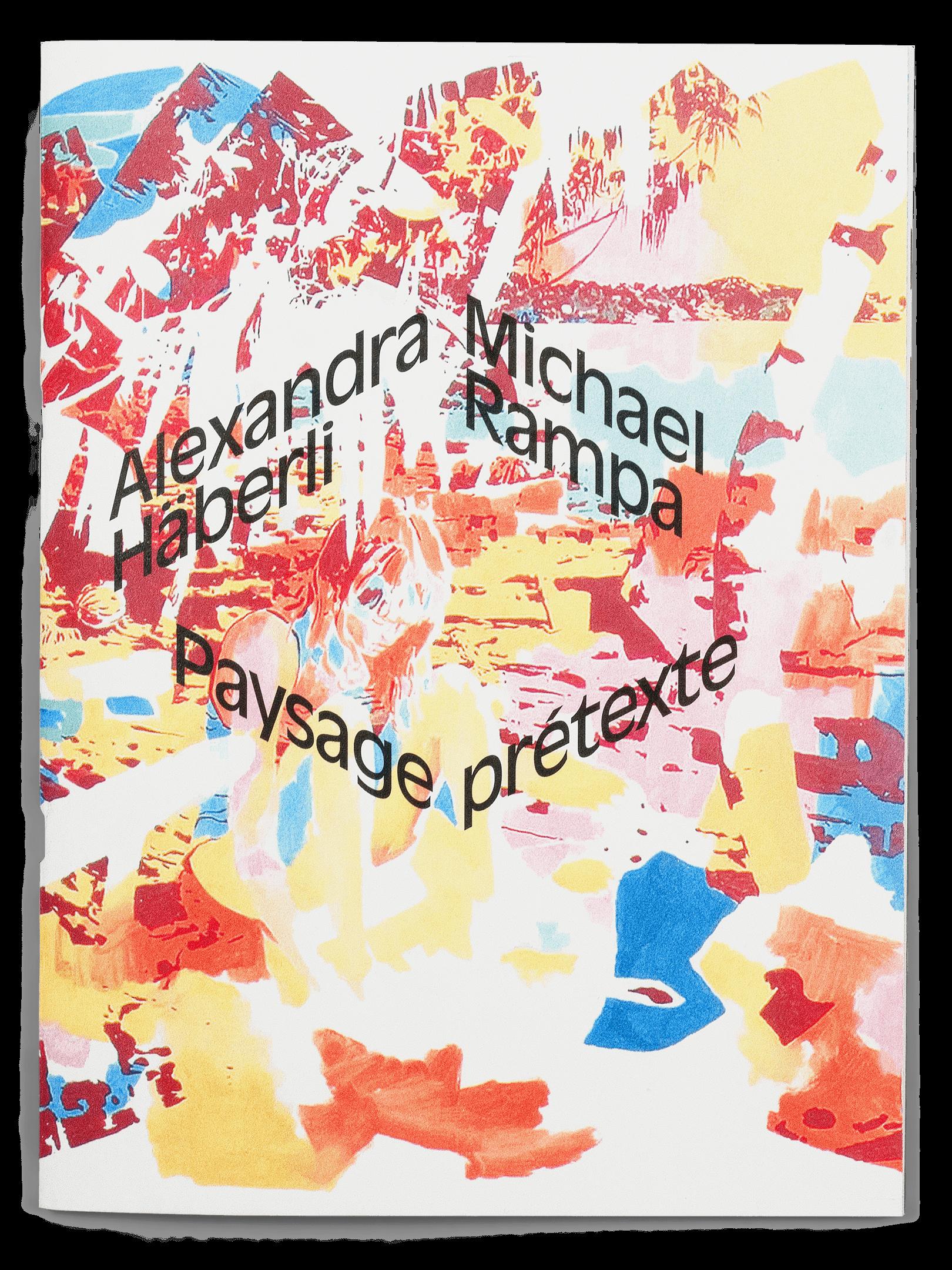 Peinture de Michael Rampa sur la couverture de la brochure de l'exposition Paysage Prétexte à la Ferme de la Chapelle