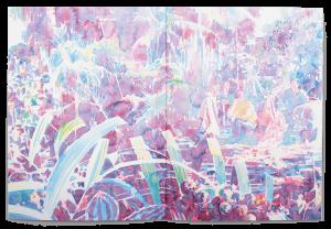 Peinture de Michael Rampa dans la brochure de l'exposition Paysage Prétexte à la Ferme de la Chapelle