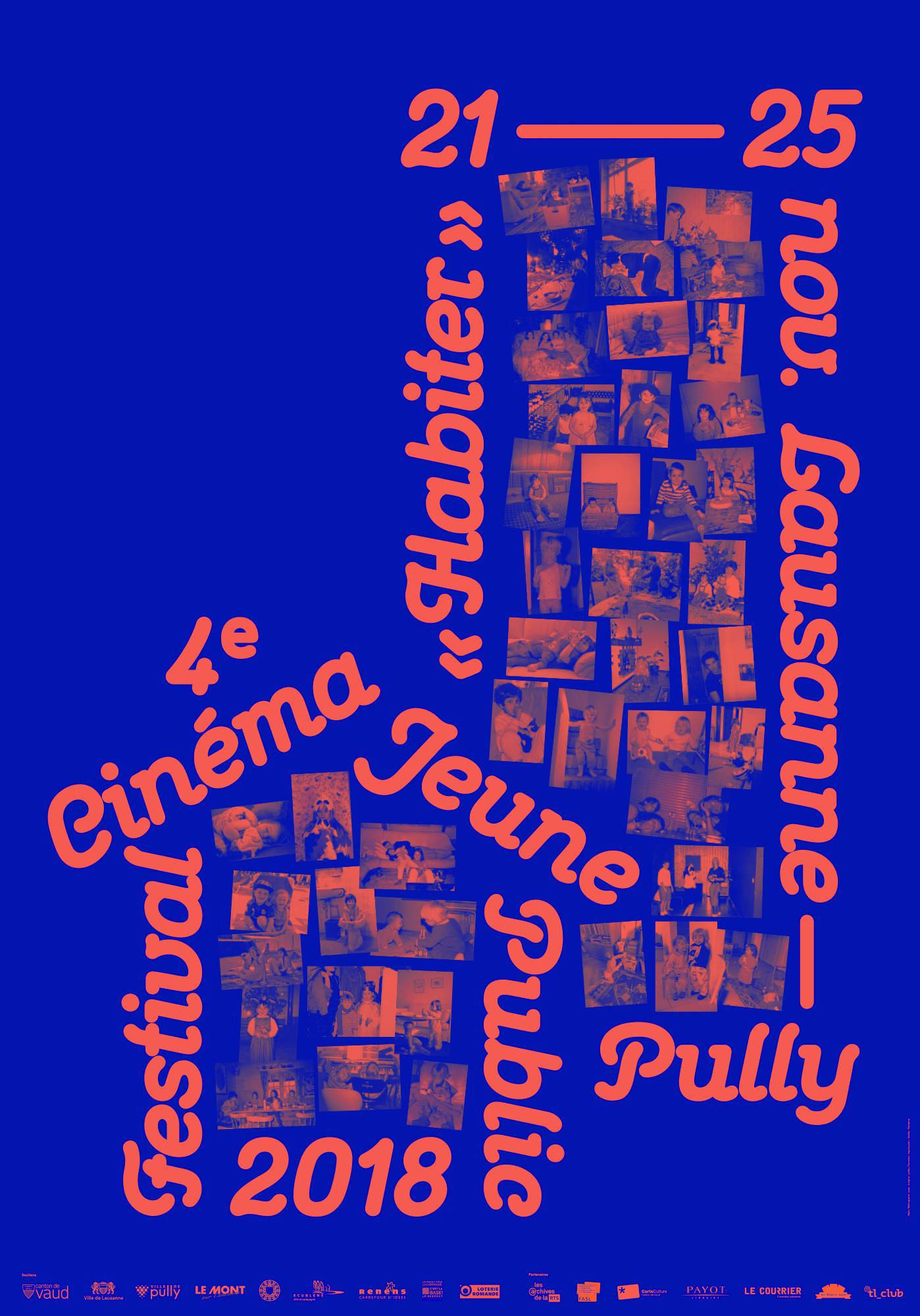 Maison, immeuble et photos de famille sur l'affiche du Festival cinéma jeune public 2018