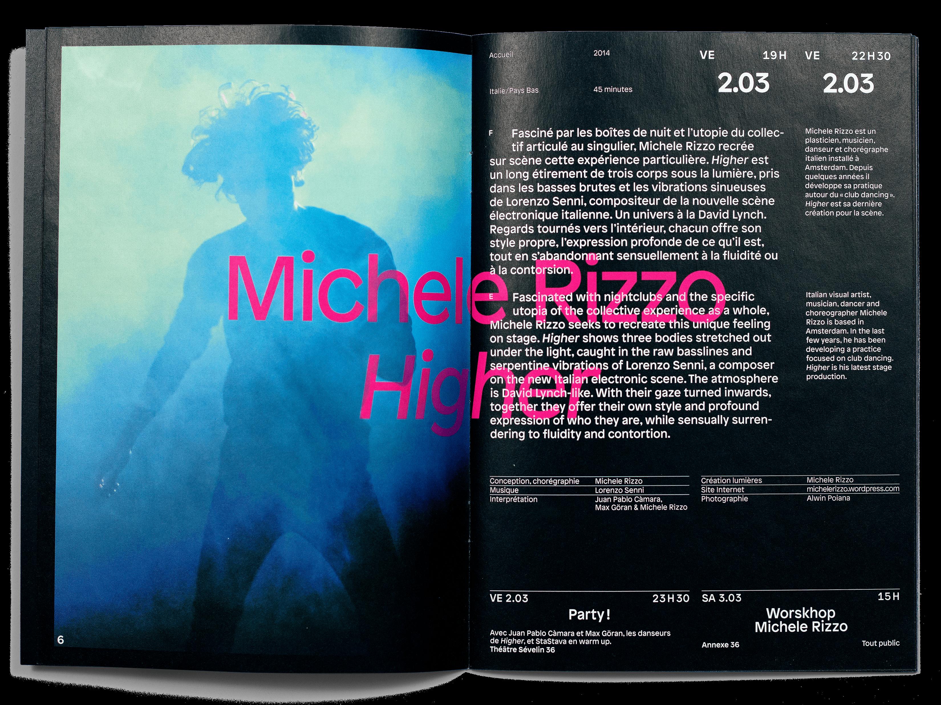 Printemps de Sévelin 2018, programme, double page