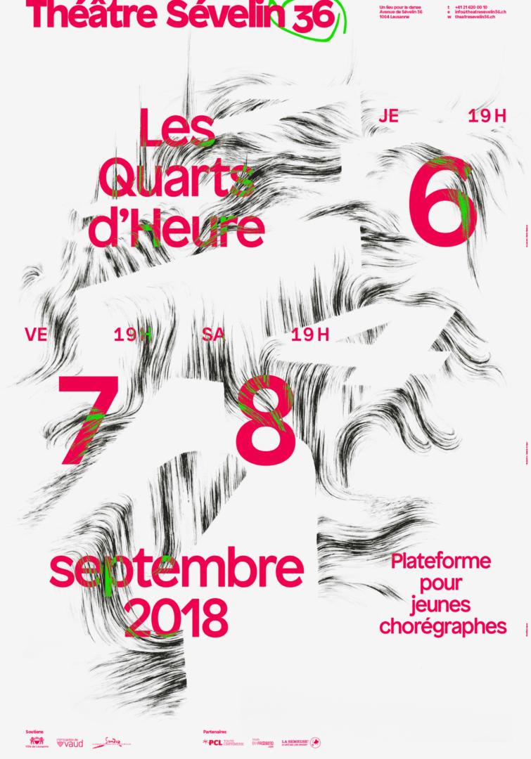 Illustration d'Isabelle Schiper sur l'affiche 2018 des Quarts d'Heure du Théâtre Sévelin 36