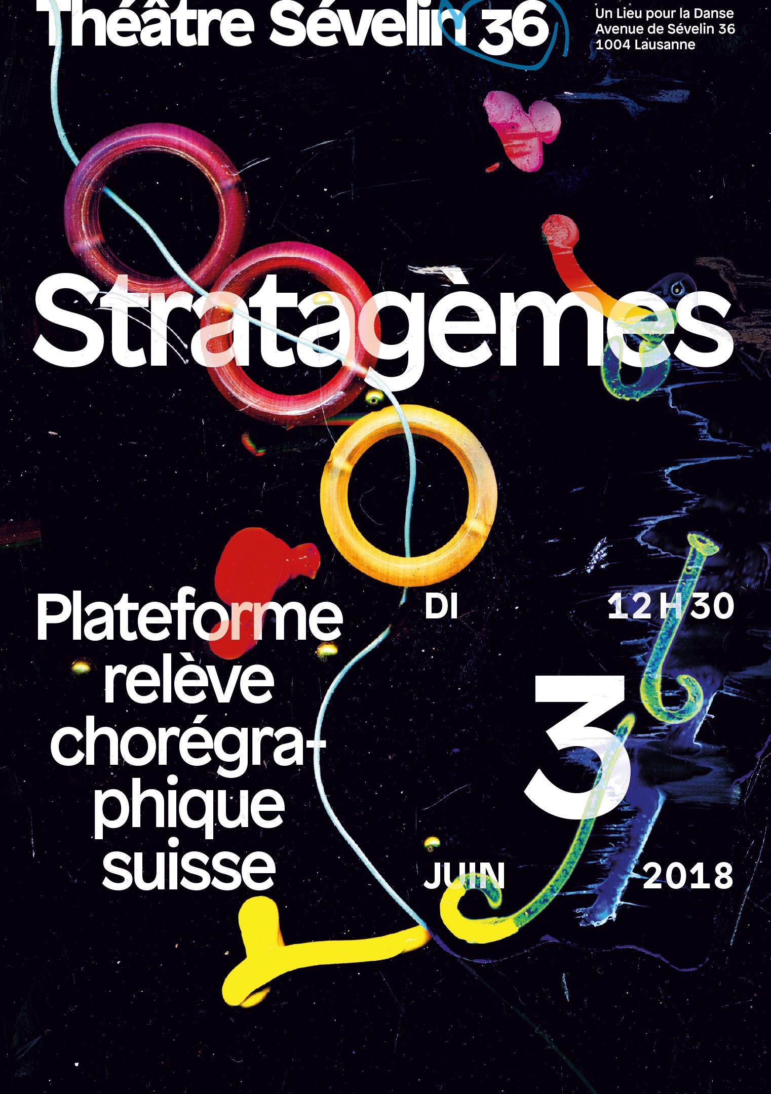 Flyer pour le spectacle Stratagèmes