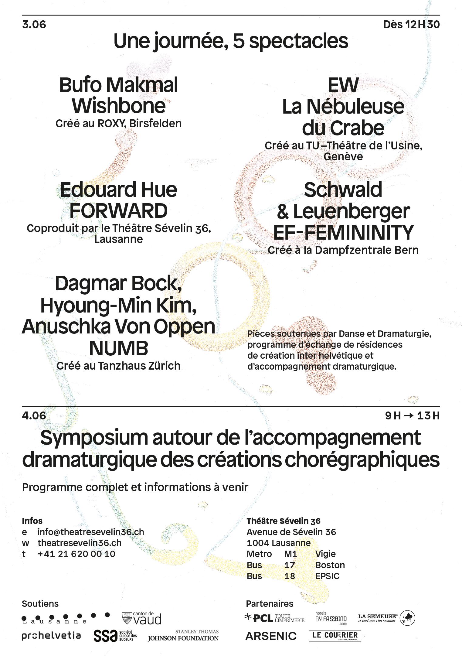 Verso du flyer pour le spectacle Stratagèmes