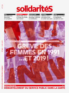 Couverture du numéro 329 du bimensuel solidaritéS: Grève des femmes en 1991 …et en 2019!