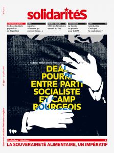 Couverture du numéro 330 du bimensuel solidaritéS: Deal pourri entre parti socialiste et camp bourgeois