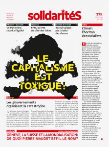 Couverture du numéro 335 de solidaritéS: Le capitalisme est toxique!