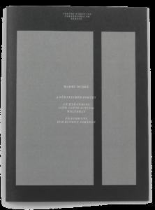 Couverture de la brochure de Harry Burke pour le Centre d'édition contemporaine Genève