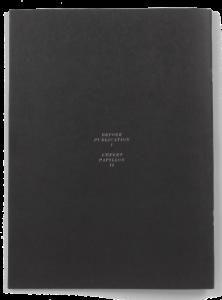 Double de la brochure de Harry Burke pour le Centre d'édition contemporaine Genève