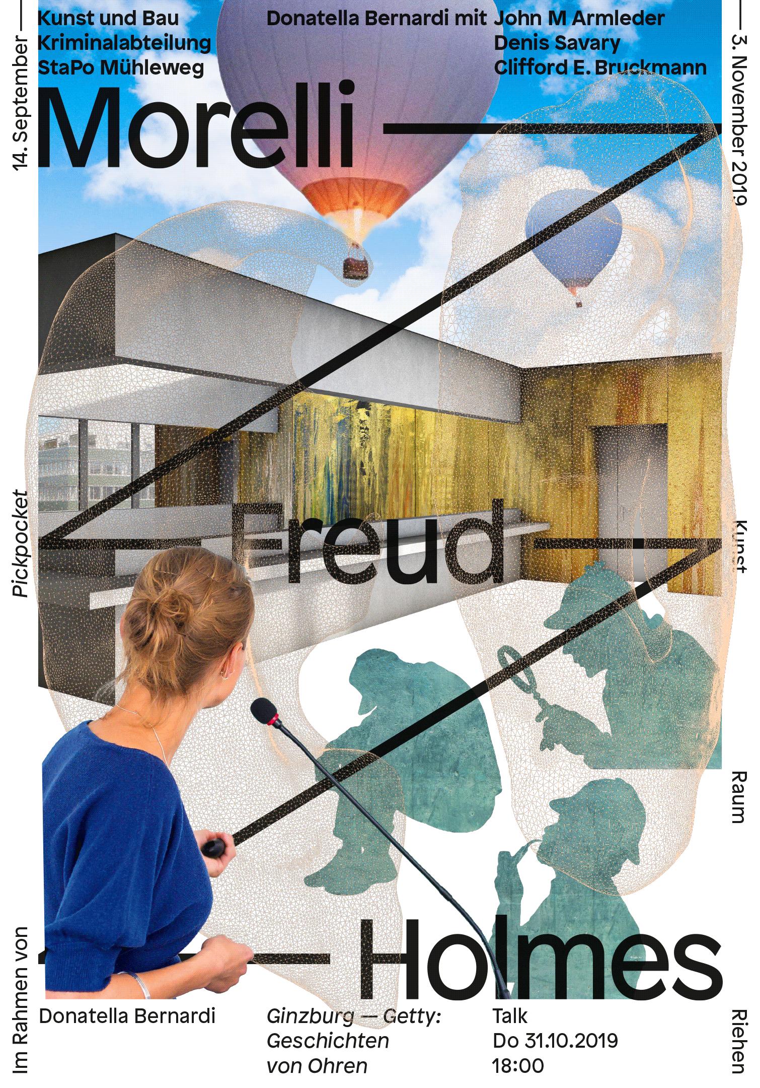 Affiche pour une exposition de Donatella Bernardi au Kunst Raum Riehen
