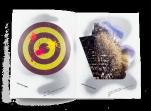 Œuvres de Stéphane Kropf et Maxime Büchi dans la brochure de l'exposition de Simon Paccaud à la Ferme de la Chapelle