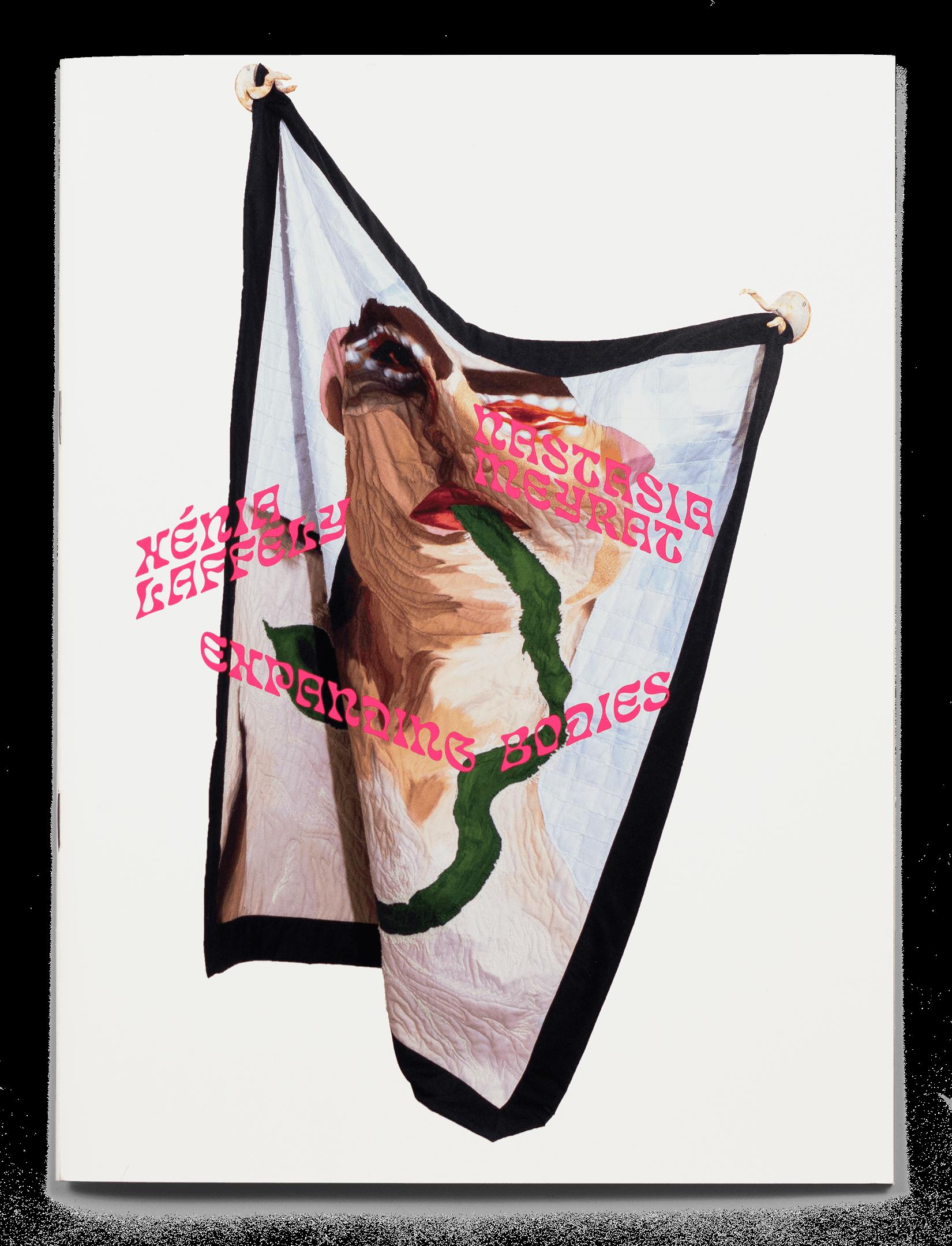 Couverture de la brochure de l'exposition Expanding Bodies avec une œuvre de Xénia Laffely