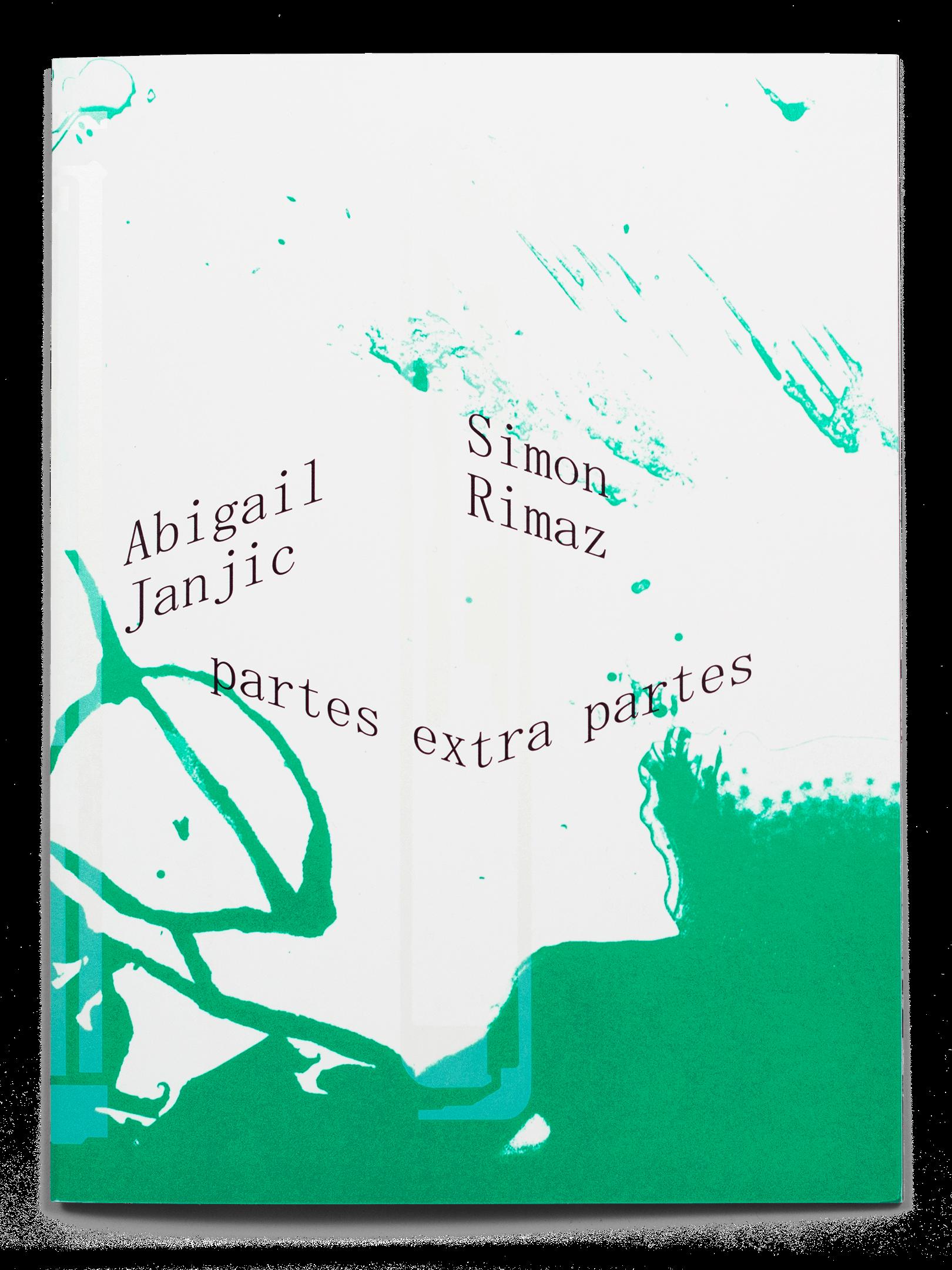 Couverture de la brochure de l'exposition de Abigail Janjic et Simon Rimaz à la Ferme de la Chapelle