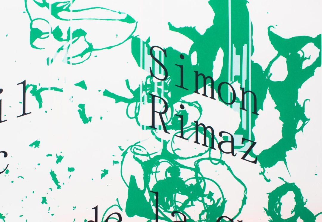 Détail de l'affiche de l'exposition de Abigail Janjic et Simon Rimaz à la Ferme de la Chapelle