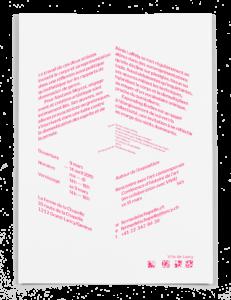 Verso du carton d'invitation de l'exposition Expanding Bodies à la Ferme de la Chapelle