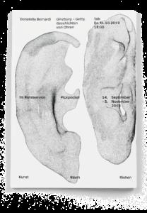 "Dos de la brochure ""Morelli-Freud-Holmes"" de Donatella Bernardi"