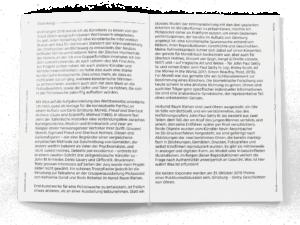 "Double-page de la brochure ""Morelli-Freud-Holmes"" de Donatella Bernardi"
