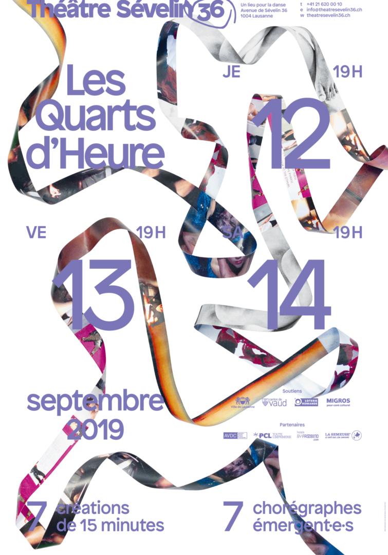 Ruban composé de photographies sur l'affiche pour les Quarts d'Heure