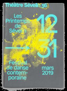 Couverture du programme des Printemps de Sévelin 2019 avec une œuvre de Isabelle Schiper
