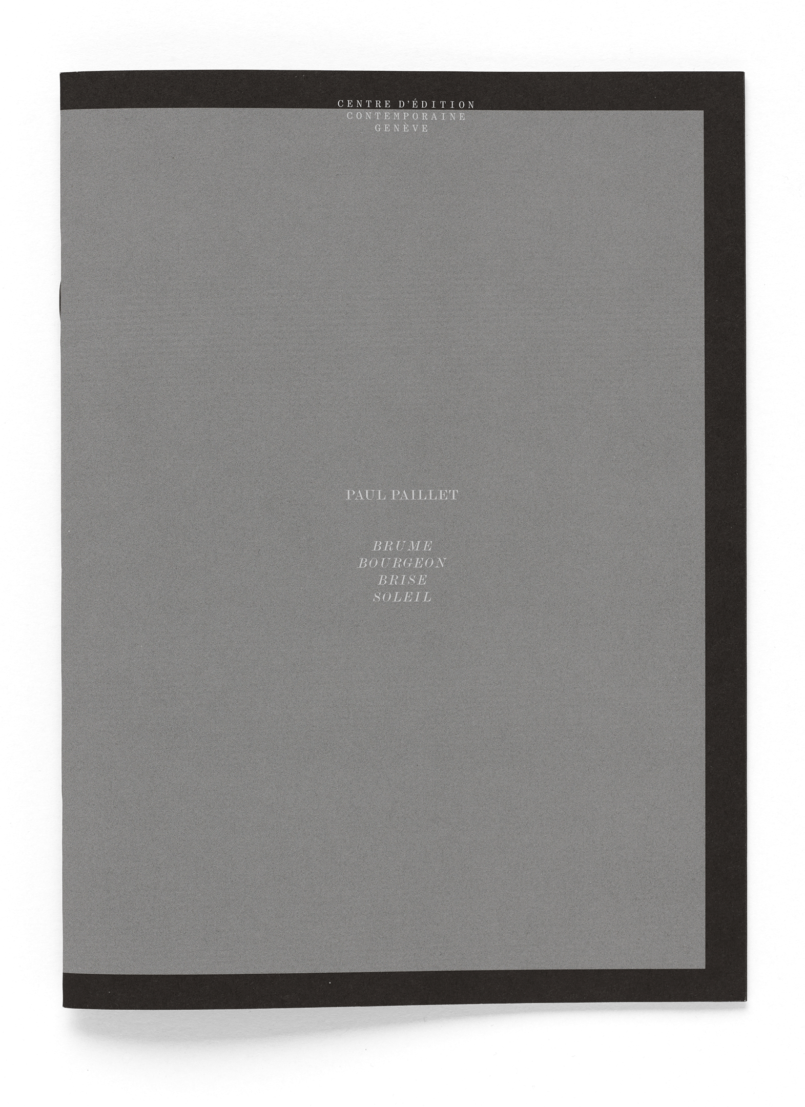 Couverture de la brochure de l'artiste Paul Paillet