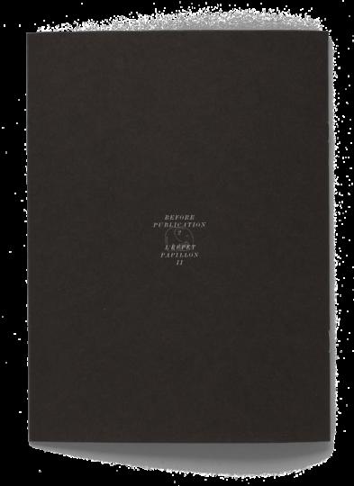Dos de la brochure de l'artiste Paul Paillet