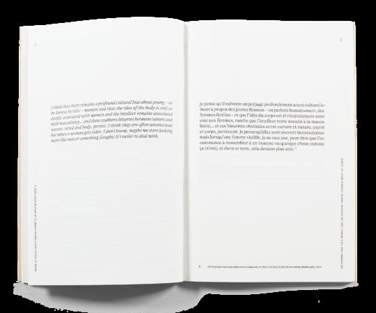 Double page du livre de Céline Burnand